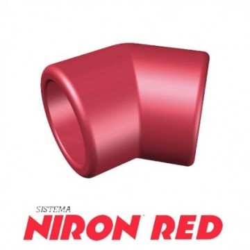 Codo 45º Niron Red De 40